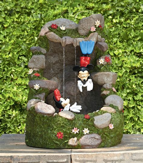 mickey and minnie garden best water features are at kmart