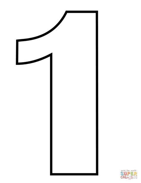 coloring pages for the number 1 number 1 coloring page free printable coloring pages
