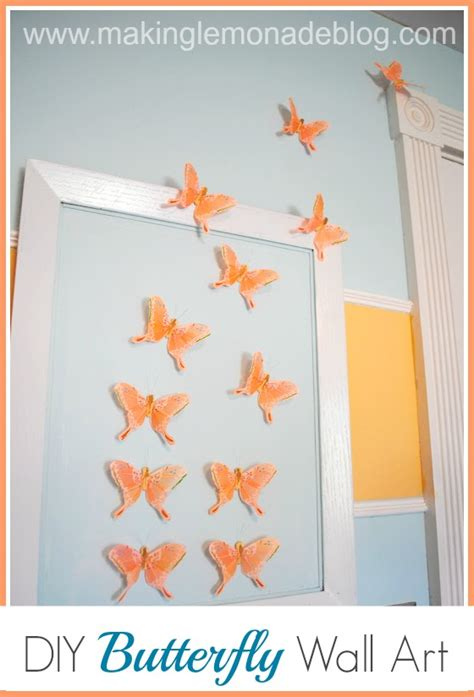 bedroom walls diy butterfly wall decor art ideas for and diy butterfly wall art nursery decor making lemonade
