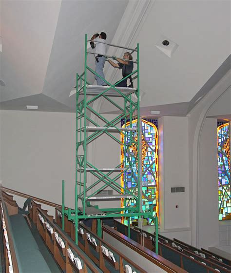 church scaffolding applications
