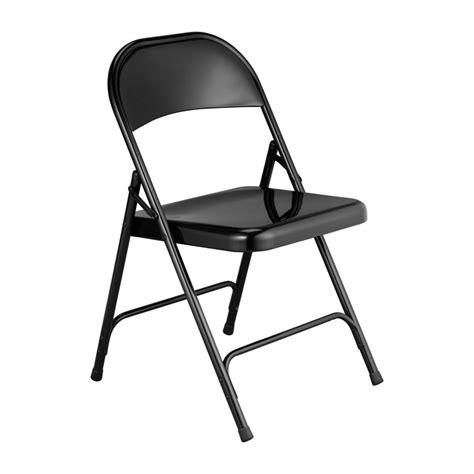 macadam sillas plegables  auxiliares negro metal habitat