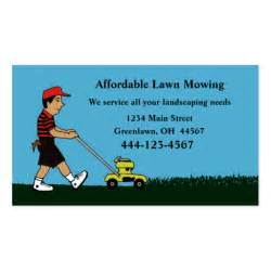 lawn mowing business cards lawn mowing and landscaping business card zazzle