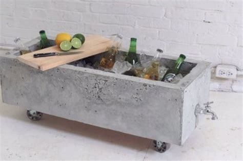 concrete diy diy concrete planter doubles as an industrial chic drink