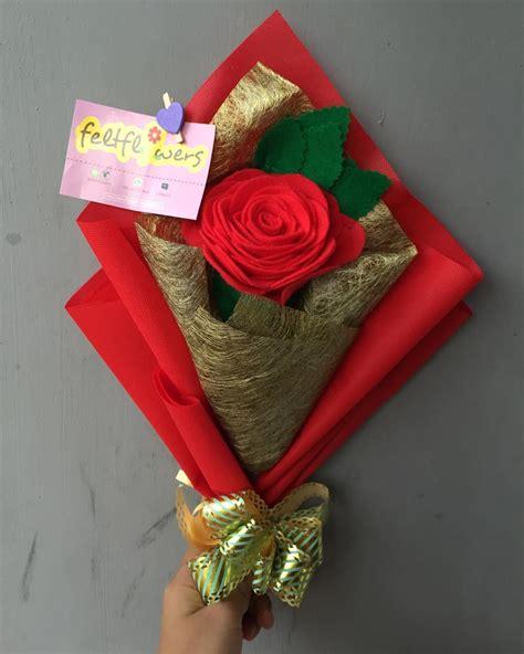 bunga buket  kain flanel