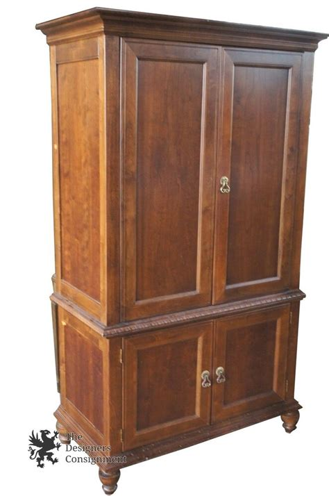 Tv Armoire Cabinet by Broyhill 2 Pc Television Tv Armoire Entertainment Cabinet