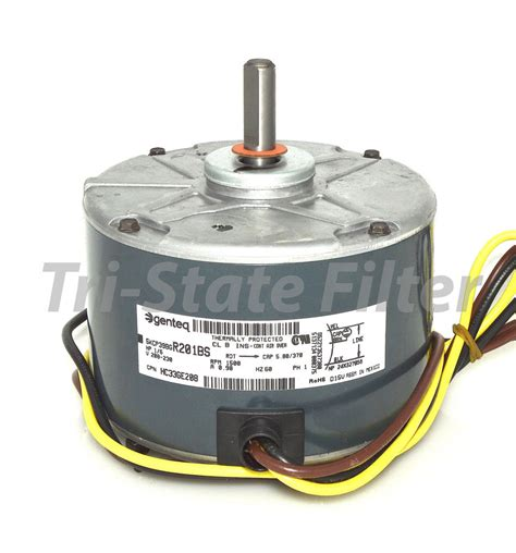 1 6 hp condenser fan motor oem ge genteq 1 6 hp 208 230v air conditioner condenser