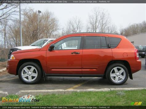 orange jeep compass sunburst orange pearl 2010 jeep compass sport 4x4 photo
