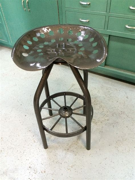 Wagon Wheel Bar Stools by Tractor Seat Bar Shop Stool That Swivels With Wagon Wheel