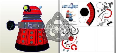 Papercraft Dalek - doctor who chibi dalek papercraft preview by