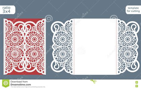 Laser Cut Gate Card Template by Laser Cut Wedding Invitation Card Template Vector Die Cut