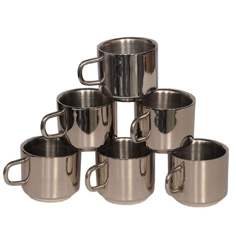 Ikea Kalas Mug 6pcs 6 Pcs buy bm 6pcs stainless steel coffee mug silver at