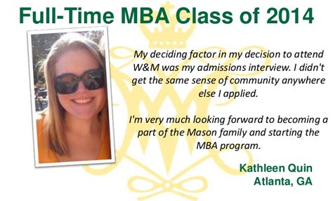 Part Time Mba In Bangalore by Why We Chose W M