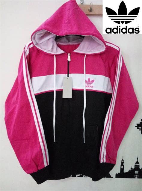 Jaket Adidas Hitam List Pink jaket parasut adidas ainul jaket