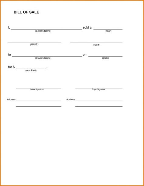 tennessee boat bill of sale pdf tennessee boat bill of sale template business