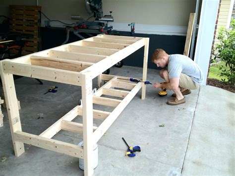 how to build a wooden work bench build a workbench plans step by wood garage work bench the