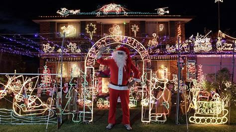 santa flicks the switch on sydney s christmas lights