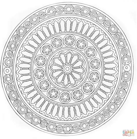 free mandala coloring pages what s your sign disegno di mandala concentrico da colorare disegni da