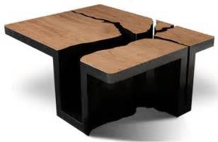 design table simply elegant extruded tree coffee table design