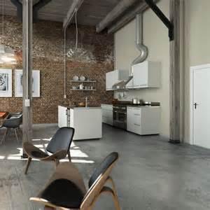 Grey Kitchen Floor Ideas by Modern Grey Concrete Kitchen Floor Flooring Ideas