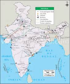 mineral map of india india minerals map