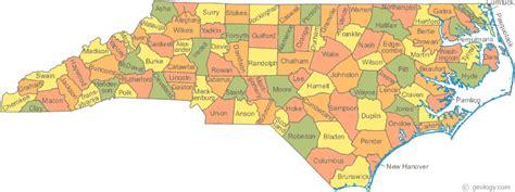 carolina map counties carolina