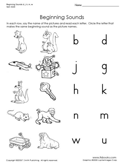 free printable letters and sounds worksheets 5 best images of beginning sounds printables free