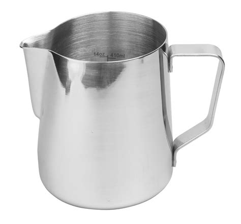 Stainless Steel Pitcher 600ml Intl rhinowares stainless steel pro pitcher crema