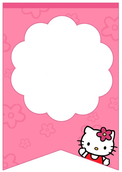 free printable hello kitty baby shower invitation template