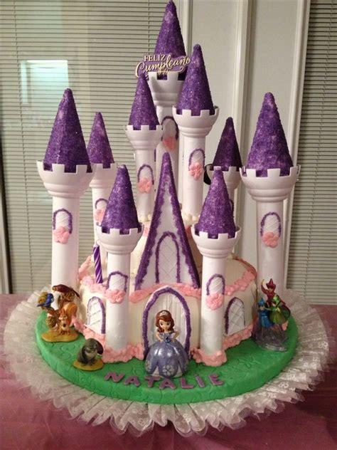 Princess Sofia Castle Cake sofia the castle cake i made for my s 2nd birthday cook