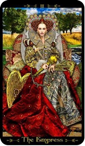 imperatriz tarot  dons  luz
