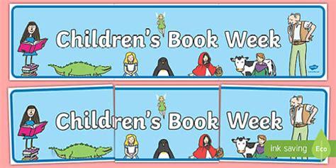 One Week Mba Book by Childrens Book Week Display Banner Book Week Reading Books