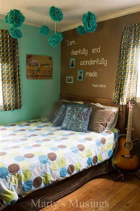 unique  awesome turquoise bedroom designs