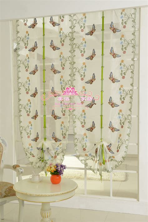 balloon curtains for kitchen butterfly lace curtain for kitchen window voile curtains