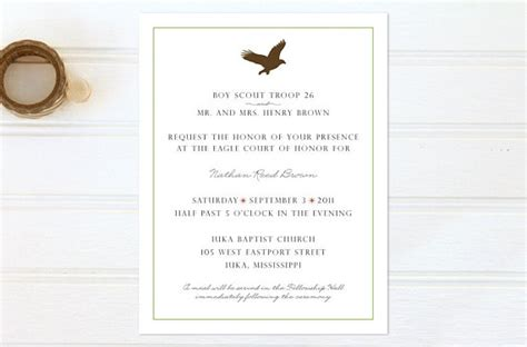 eagle scout court of honor invitation template items similar to eagle scout court of honor invitations