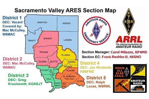 arrl section map arrl sections sacramento valley