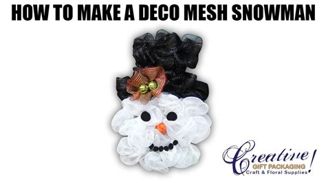 How To Make A Snowman Hat Out Of Construction Paper - deco mesh snowman with new deco mesh snowman hat