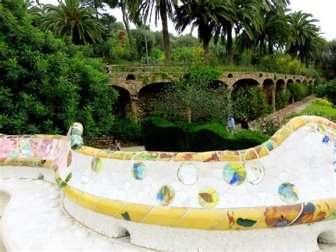 park guell bench trencadis serpentine mosaic tile bench at gaudi s park guell solo trips and tips