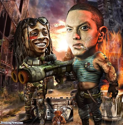 rap killers eminem and lil wayne pictures freaking news