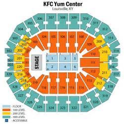 Kfc Yum Center Floor Plan Kfc Yum Center Seating Chart Kfc Yum Center Tickets