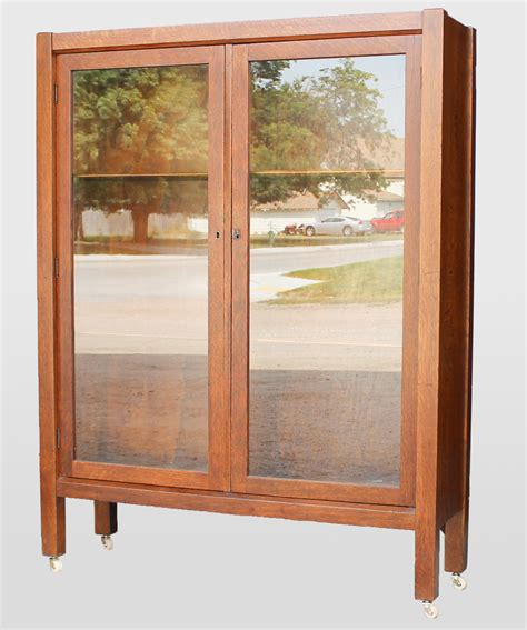 Oak Bookcases With Doors Bargain S Antiques 187 Archive Antique Mission Oak Bookcase With Doors Bargain