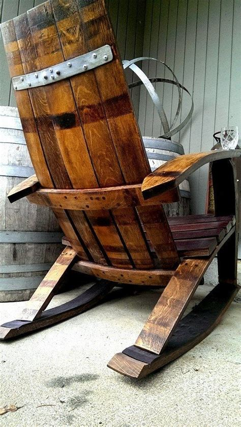 wine barrel rocking chair australia reclaimed wine barrel rocking adirondack chair