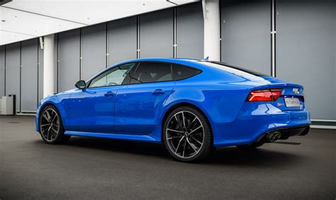 porsche audi audi rs7 in porsche s voodoo blue color
