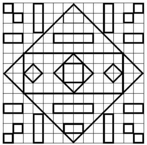 imagenes faciles para dibujar en cuadricula aprender a dibujar juego de geometria formas es