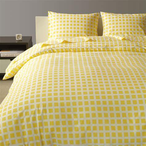 tiles lemon duvet cover king unison