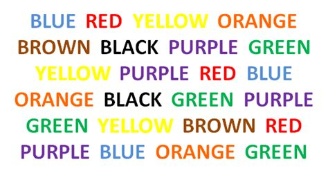 color word test words colours and the stroop effect barrie bramley