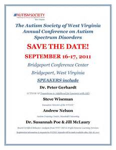 save the date template email the autism society of west virginia aswv fall conference