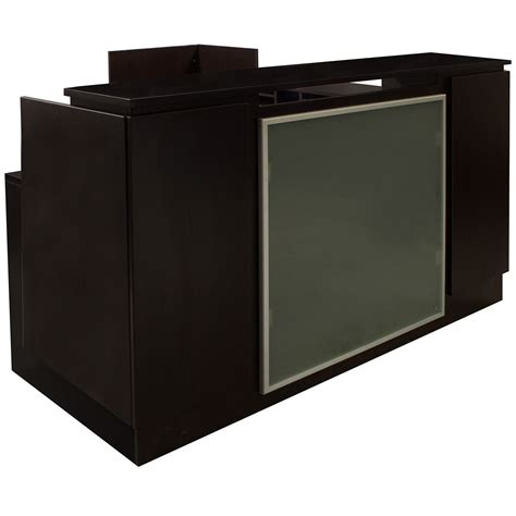 Espresso Reception Desk Everyday Left Return Laminate Reception Desk Espresso National Office Interiors And Liquidators
