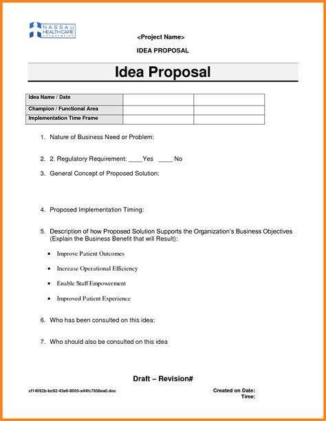 project idea template 7 project ideas project