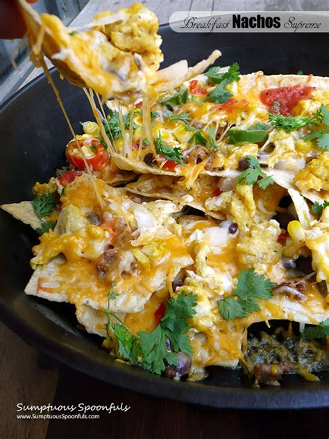nachos supreme recipe 187 breakfast nachos supreme sumptuous spoonfuls