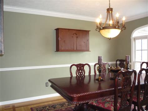 dining room with chair rail mcclain painting cleveland oh